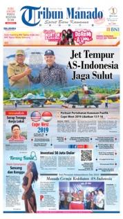 Cover Tribun Manado 18 Juni 2019