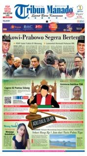 Cover Tribun Manado 21 Juni 2019