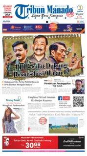 Cover Tribun Manado 22 Juni 2019