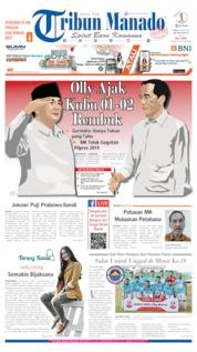 Cover Tribun Manado 28 Juni 2019