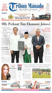 Cover Tribun Manado 01 Juli 2019
