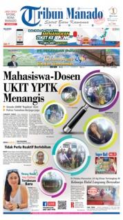 Cover Tribun Manado 12 Juli 2019