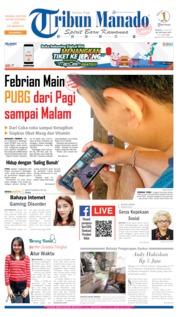 Cover Tribun Manado 14 Juli 2019