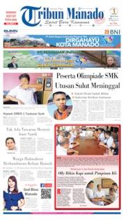 Cover Tribun Manado 15 Juli 2019