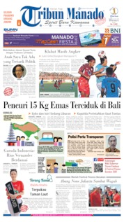 Cover Tribun Manado 20 Juli 2019