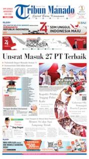 Cover Tribun Manado 19 Agustus 2019