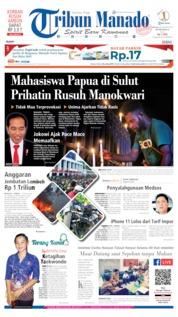 Cover Tribun Manado 20 Agustus 2019