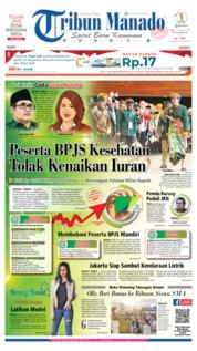 Cover Tribun Manado 21 Agustus 2019