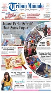 Cover Tribun Manado 22 Agustus 2019