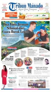 Cover Tribun Manado 23 Agustus 2019