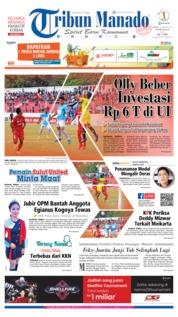 Cover Tribun Manado 24 Agustus 2019