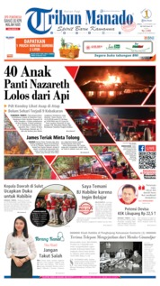 Cover Tribun Manado 13 September 2019