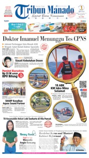 Cover Tribun Manado 14 September 2019