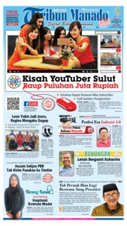 Cover Tribun Manado 15 September 2019
