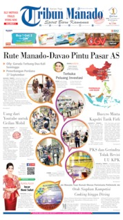 Cover Tribun Manado 16 September 2019
