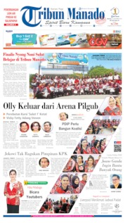Cover Tribun Manado 17 September 2019