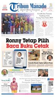 Tribun Manado Cover 22 September 2019