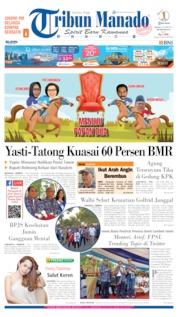 Cover Tribun Manado 08 Oktober 2019