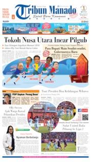 Cover Tribun Manado 09 Oktober 2019