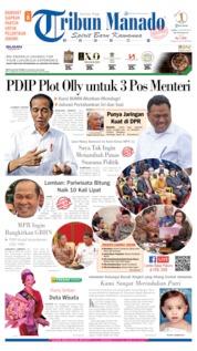 Cover Tribun Manado 10 Oktober 2019