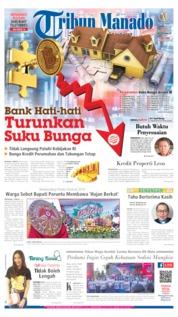 Cover Tribun Manado 13 Oktober 2019