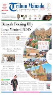Cover Tribun Manado 14 Oktober 2019