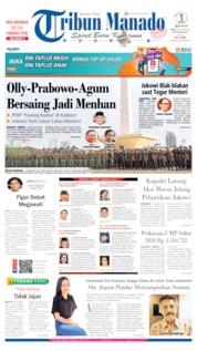 Cover Tribun Manado 18 Oktober 2019
