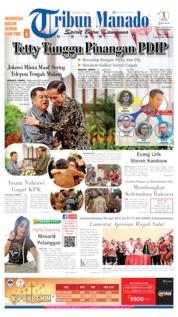 Cover Tribun Manado 19 Oktober 2019
