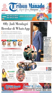 Cover Tribun Manado 21 Oktober 2019