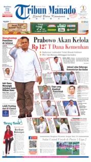 Cover Tribun Manado 22 Oktober 2019