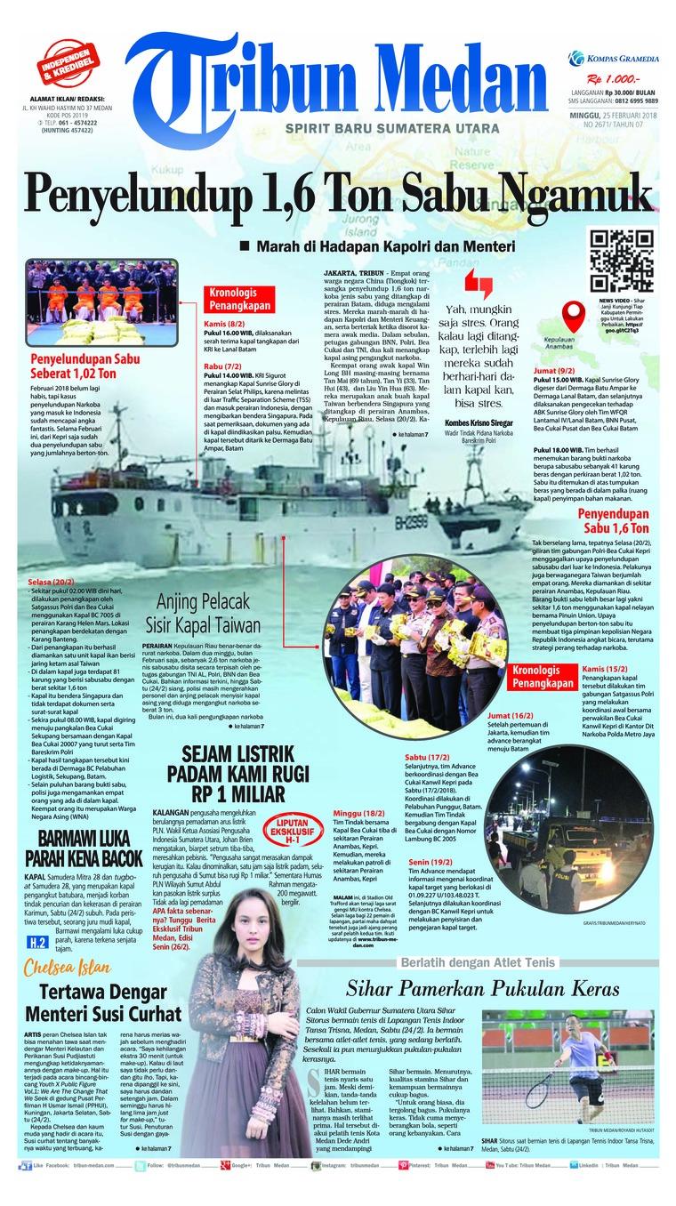 Koran Digital Tribun Medan [Pagi] 25 Februari 2018
