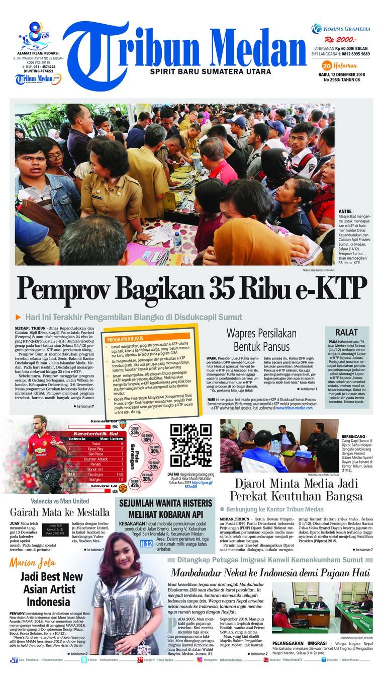 Koran Digital Tribun Medan 12 Desember 2018