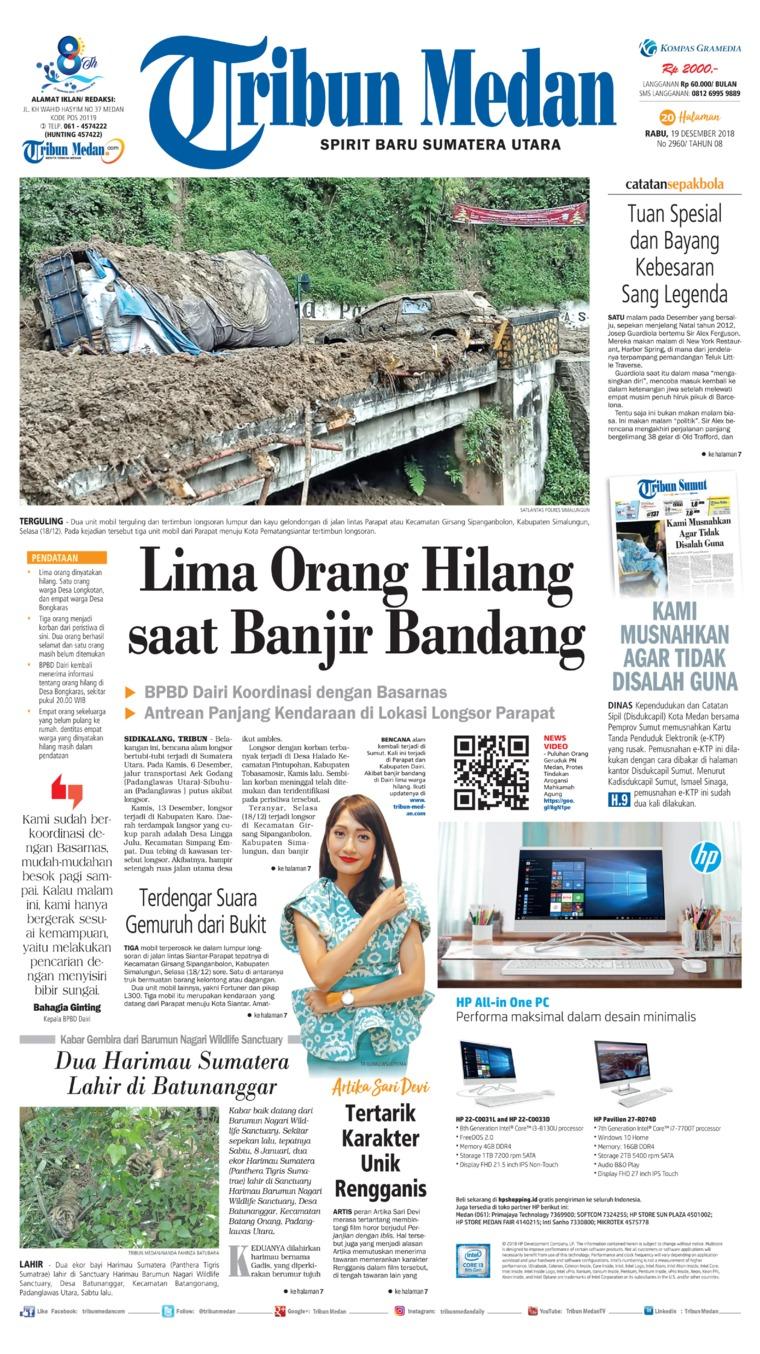 Tribun Medan Newspaper 19 December 2018 - Gramedia Digital