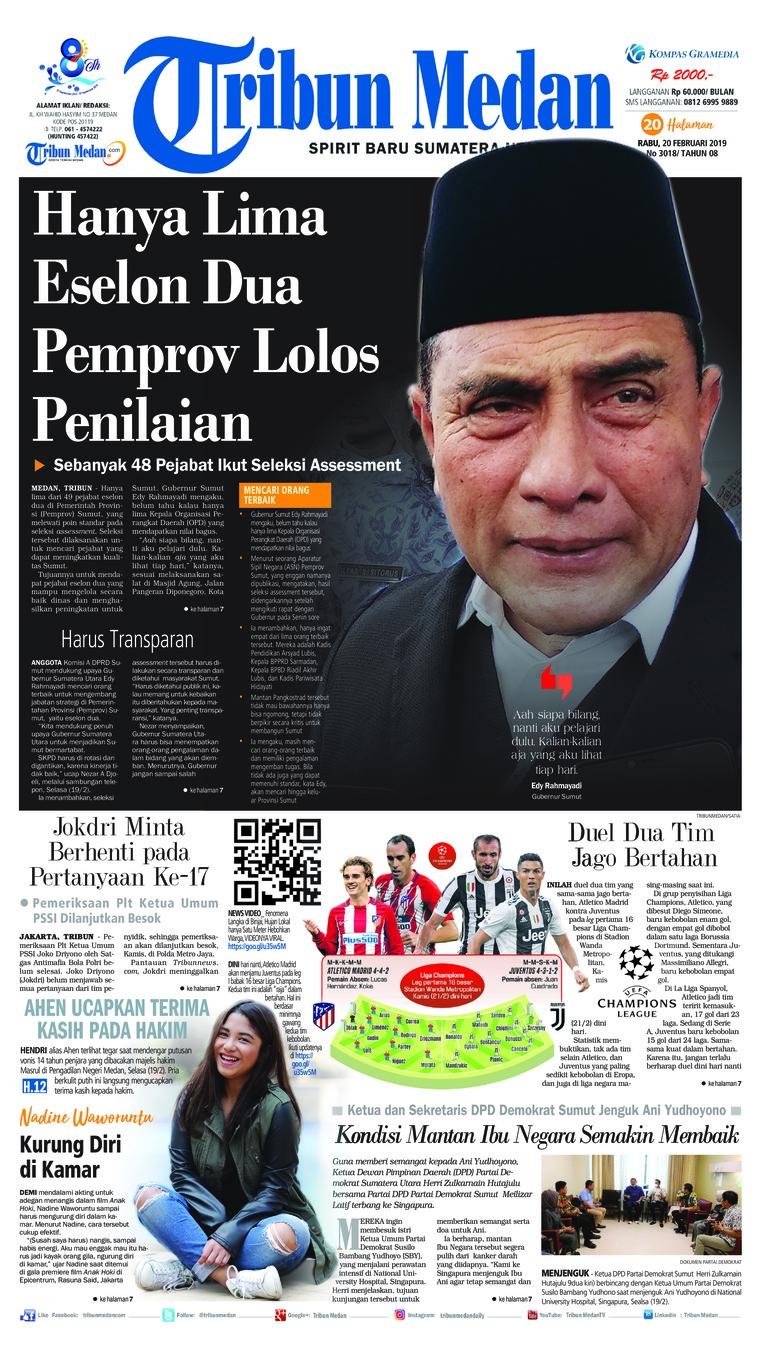 Koran Digital Tribun Medan 20 Februari 2019