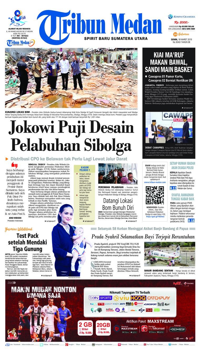 Koran Digital Tribun Medan 18 Maret 2019