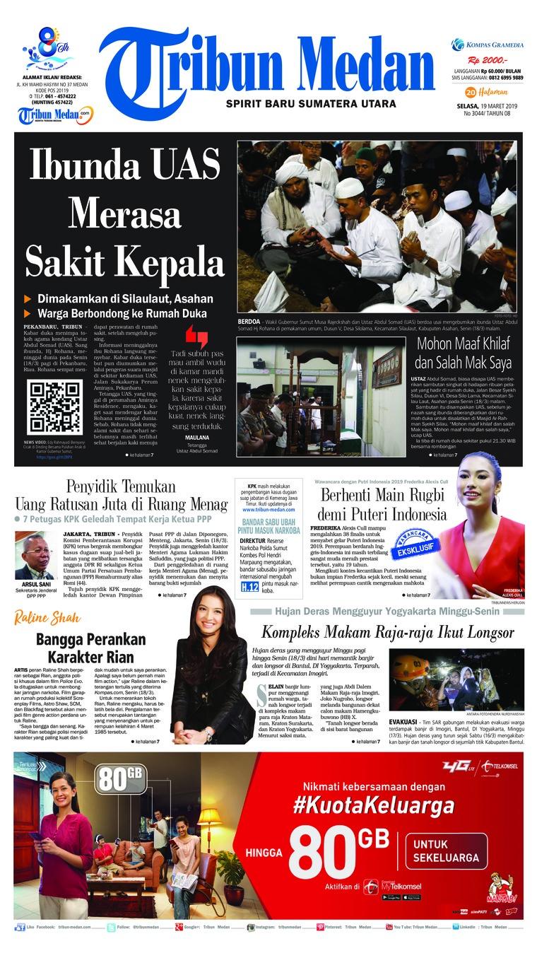 Koran Digital Tribun Medan 19 Maret 2019