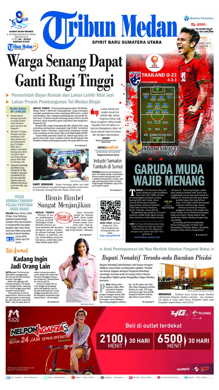 Koran Digital Tribun Medan 22 Maret 2019