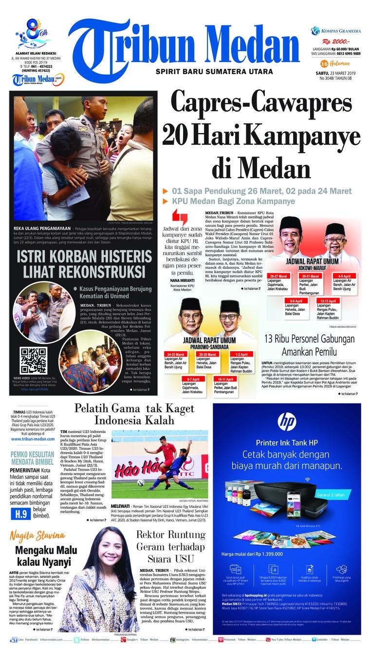 Koran Digital Tribun Medan 23 Maret 2019