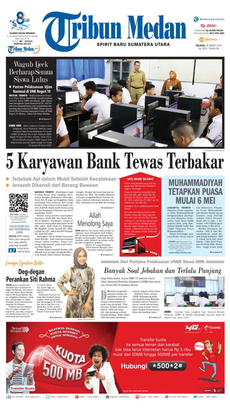 Koran Digital Tribun Medan 26 Maret 2019