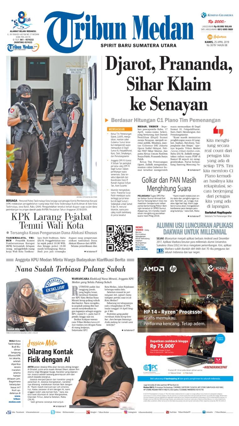 Koran Digital Tribun Medan 25 April 2019