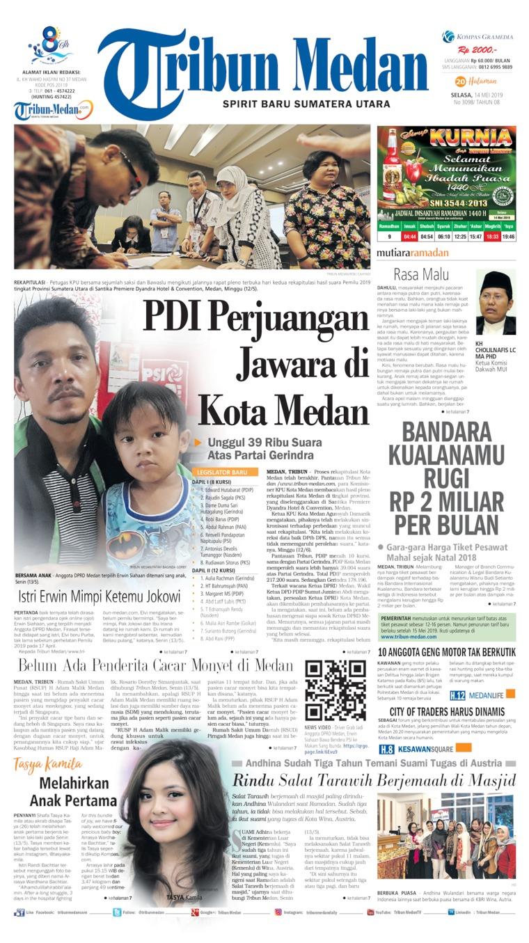 Koran Digital Tribun Medan 14 Mei 2019