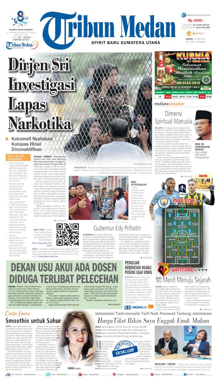 Koran Digital Tribun Medan 18 Mei 2019