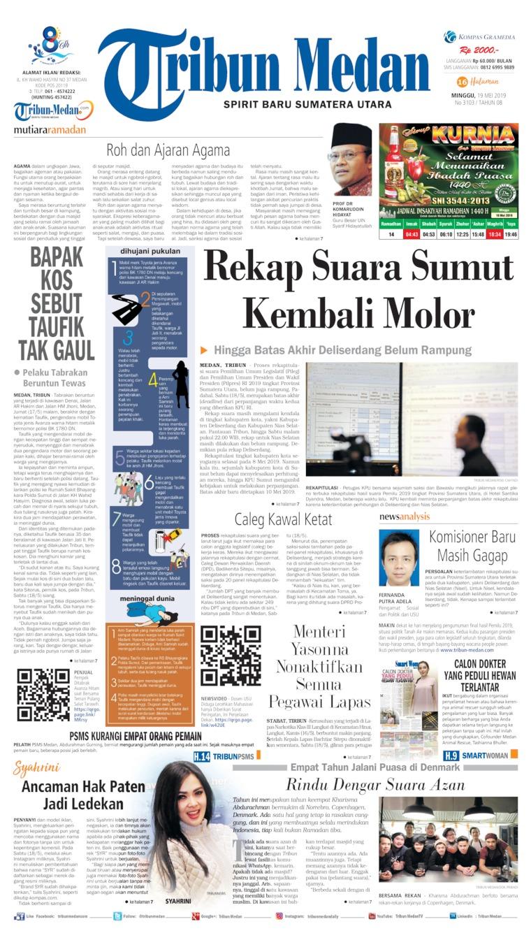 Tribun Medan Digital Newspaper 19 May 2019
