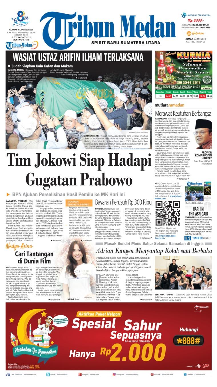 Koran Digital Tribun Medan 24 Mei 2019