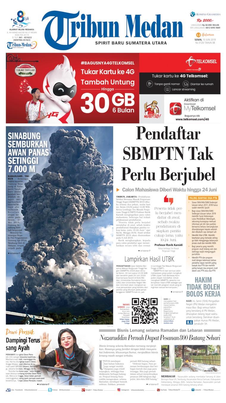 Tribun Medan Digital Newspaper 10 June 2019