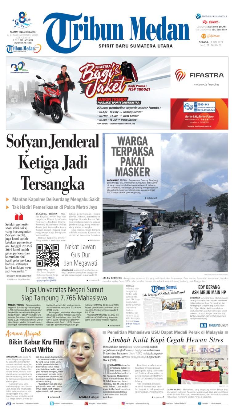 Tribun Medan Digital Newspaper 11 June 2019