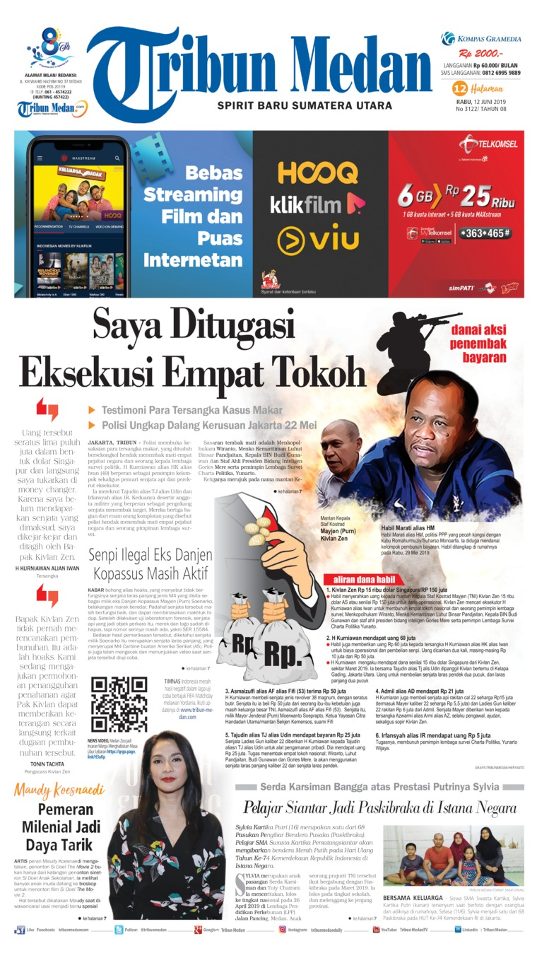 Tribun Medan Digital Newspaper 12 June 2019