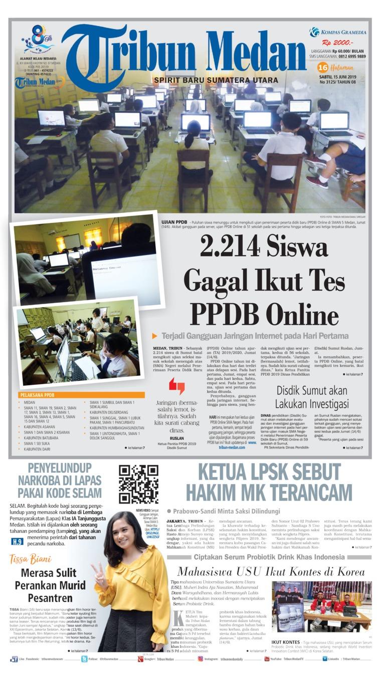 Tribun Medan Digital Newspaper 15 June 2019