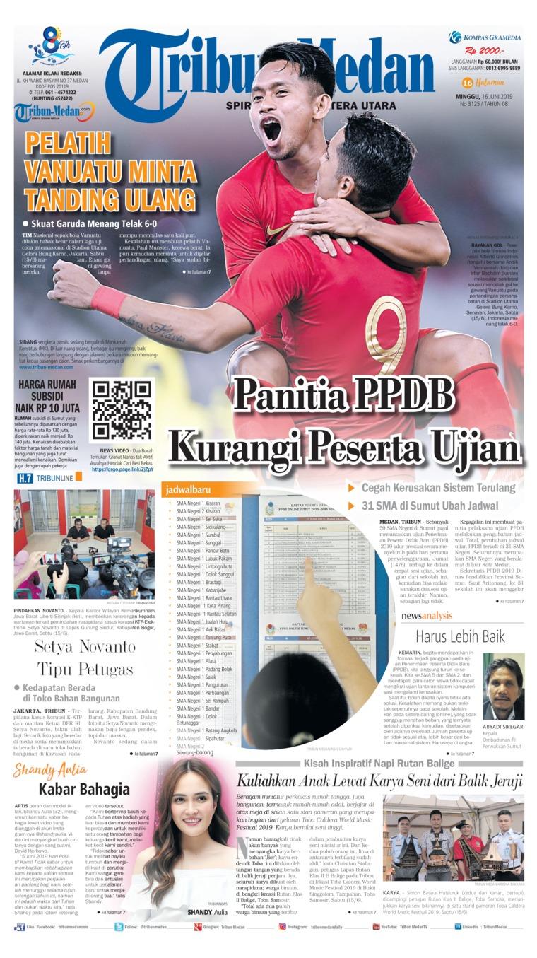 Tribun Medan Digital Newspaper 16 June 2019