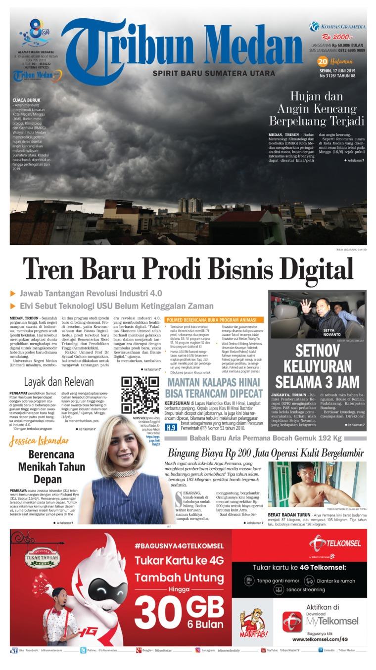 Tribun Medan Digital Newspaper 17 June 2019
